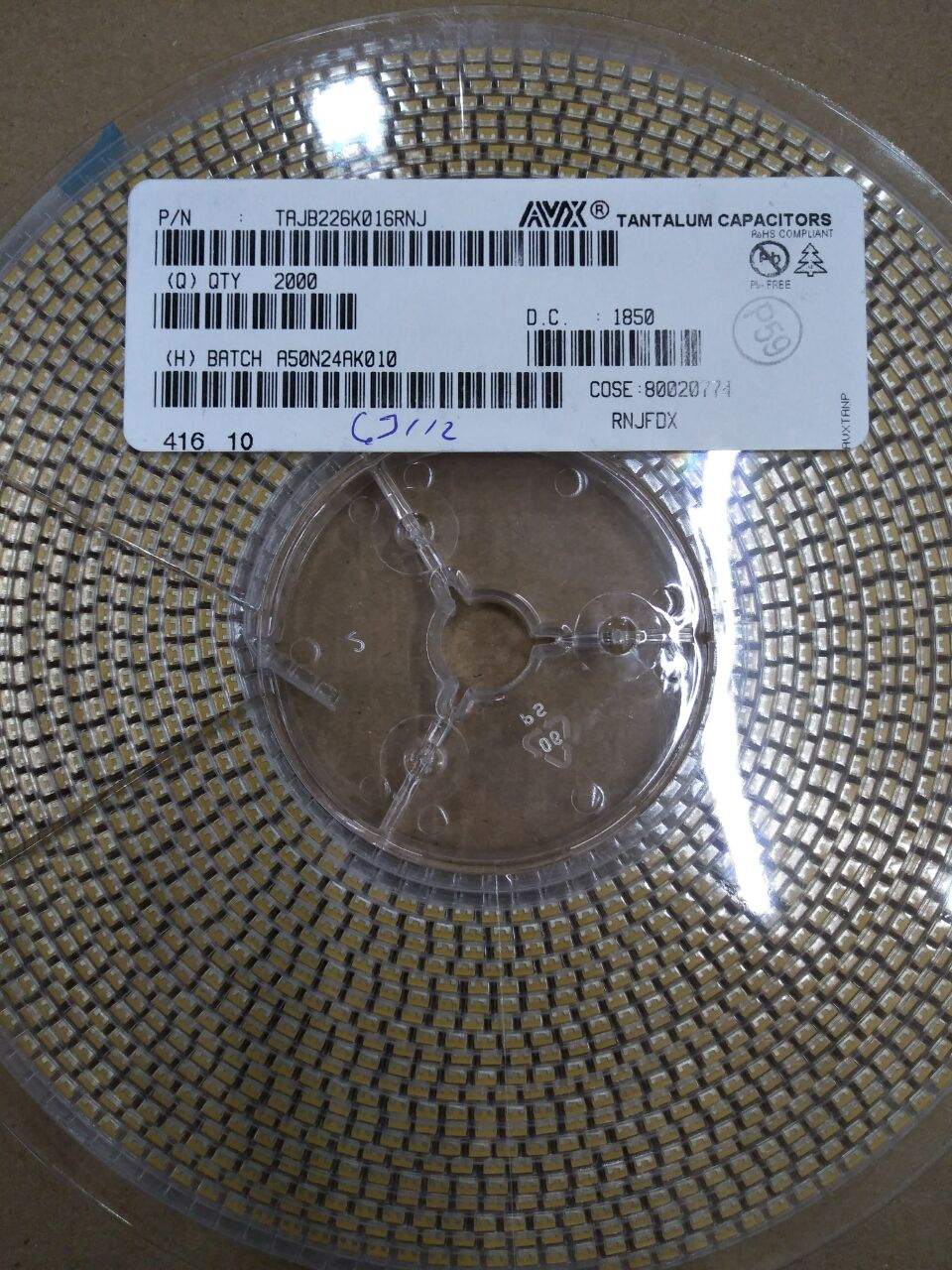 Tụ Tantalium Cap TAJB226K016RNJ