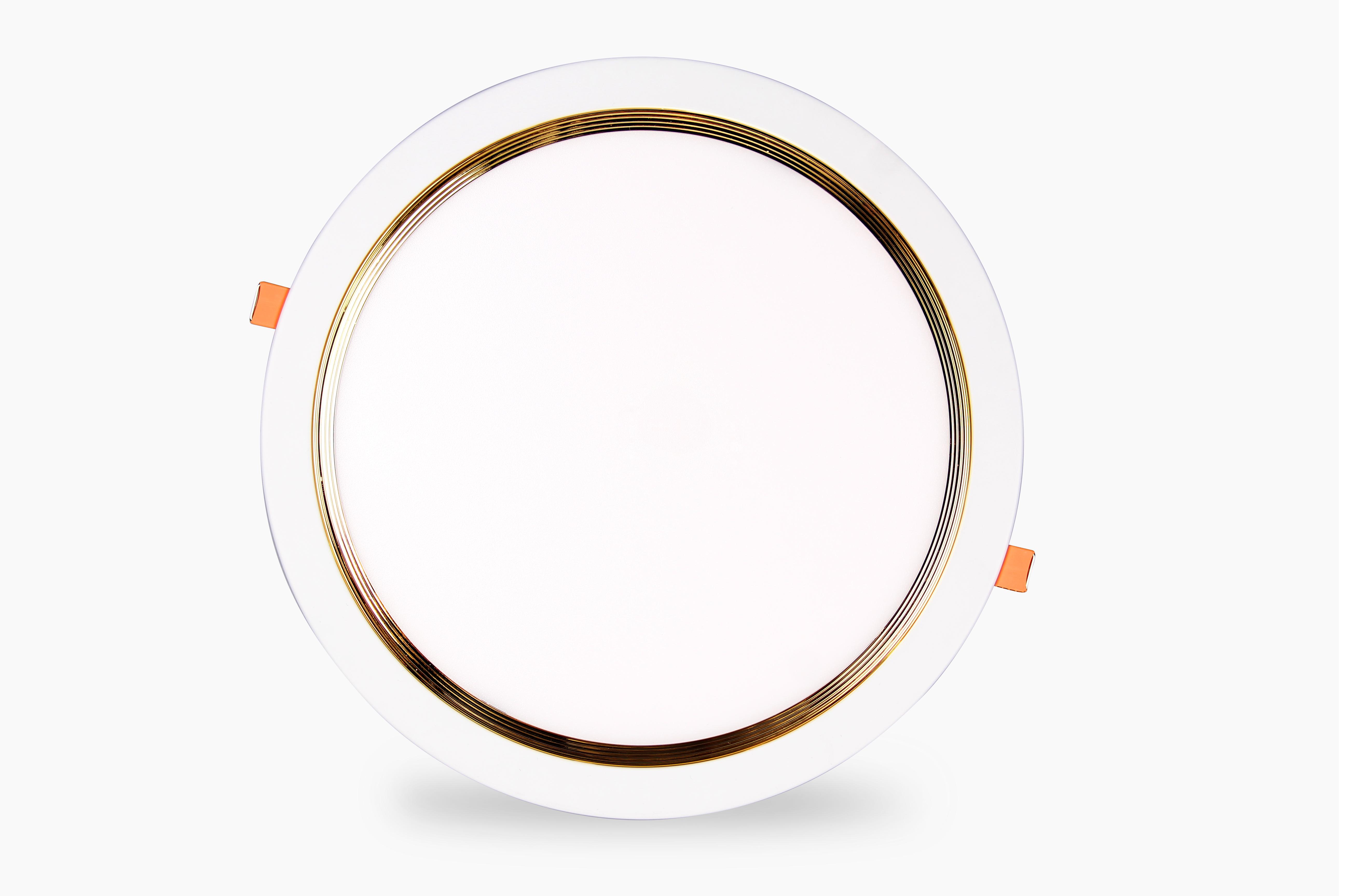 LED âm trần tròn siêu mỏng viền vàng