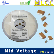 NPO 0402 100V to 630V 220pF multilayer ceramic capacitor